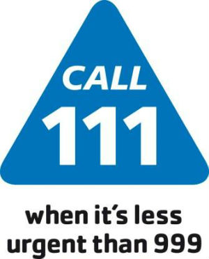 Call 111 when it's less urgent than 999